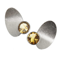 Palladium earstuds with citrines